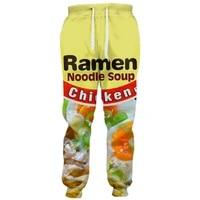 cloudstyle 2021 fashion 3d long pants men ramen noodle 3d full print sweatpants straight harajuku streetwear casual trousers