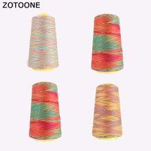 ZOTOONE jeu de fils pour Machine à coudre coloré   Fil de coulis en Nylon, bobine de fils à broder, avec des appliques sur les accessoires de couture pour vêtements