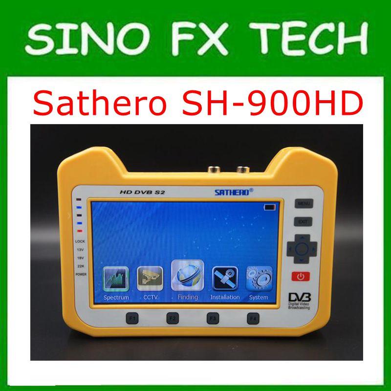 حقيقية Sathero SH-900HD DVB-S2 الرقمية الفضائية مكتشف متر مع محلل الطيف و محوري الرقمية مراقبة SH-900HD