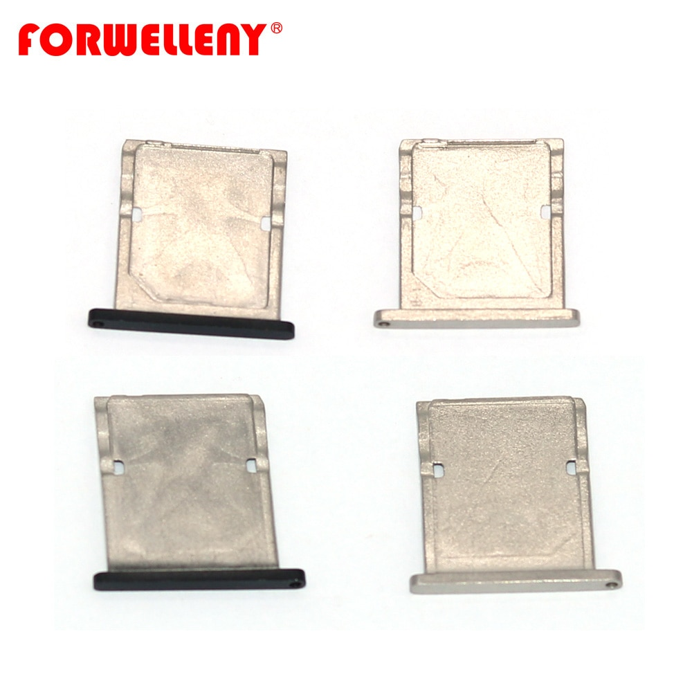 Pour xiaomi Xio mi mi 4 mi 4 mi cro Sim porte-carte adaptateurs de remplacement pour plateau de fente, noir, argent