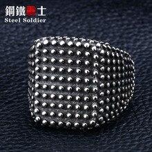 steel soldier stainless steel punk rock  ring popular titanium steel gothic jewelry