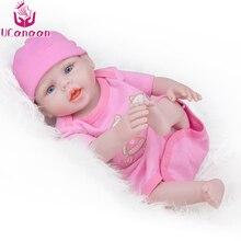 UCanaan 20'' 50CM Reborn Baby Dolls Full Body Vinyl Realistic Toys For Children Playmate Baby Newborn Bonecas Girl Birthday Gift