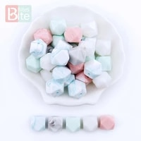 bite bites 20pc 14mm baby silicone geometric bead food grade perle silicone baby teether nursing necklace diy pacifier chain toy