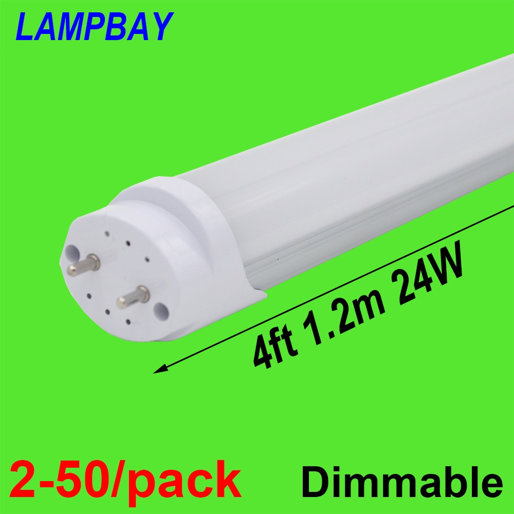 2-50/حزمة LED أنبوب لمبة 4ft 48
