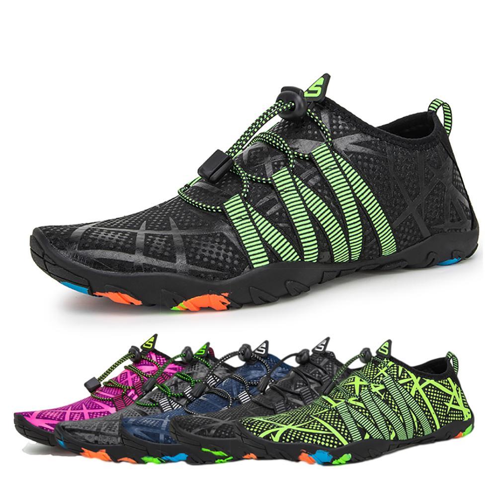 Zapatos de cinco dedos descalzos para hombre, zapatos de verano para mujer, para exteriores, ligeros, aguamarina, zapatillas deportivas para Fitness