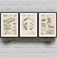 Musik Aufnahme Patente Vintage Blaupause Poster Und Drucke Musik Zimmer Wand Kunst Malerei Decor Wand Bilder Bar Retro Poster