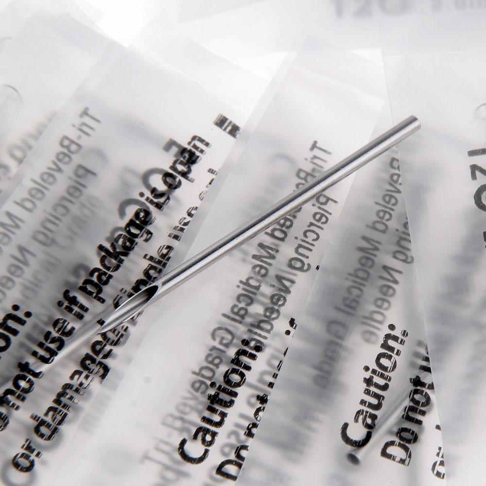 20 шт. разных размеров, стерильные иглы 12/14/16/18/20 г пирсинг тела, ушей из медицинской нержавеющей стали 316L, иглы для тела, тату, пирсинг для уха, ...