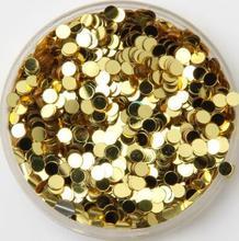 30G Ronde Vorm Gouden Pailetten Glitter Pvc Losse Pailletten Voor Nail Art Manicure/Naaien/Bruiloft Decoratie confetti Diy