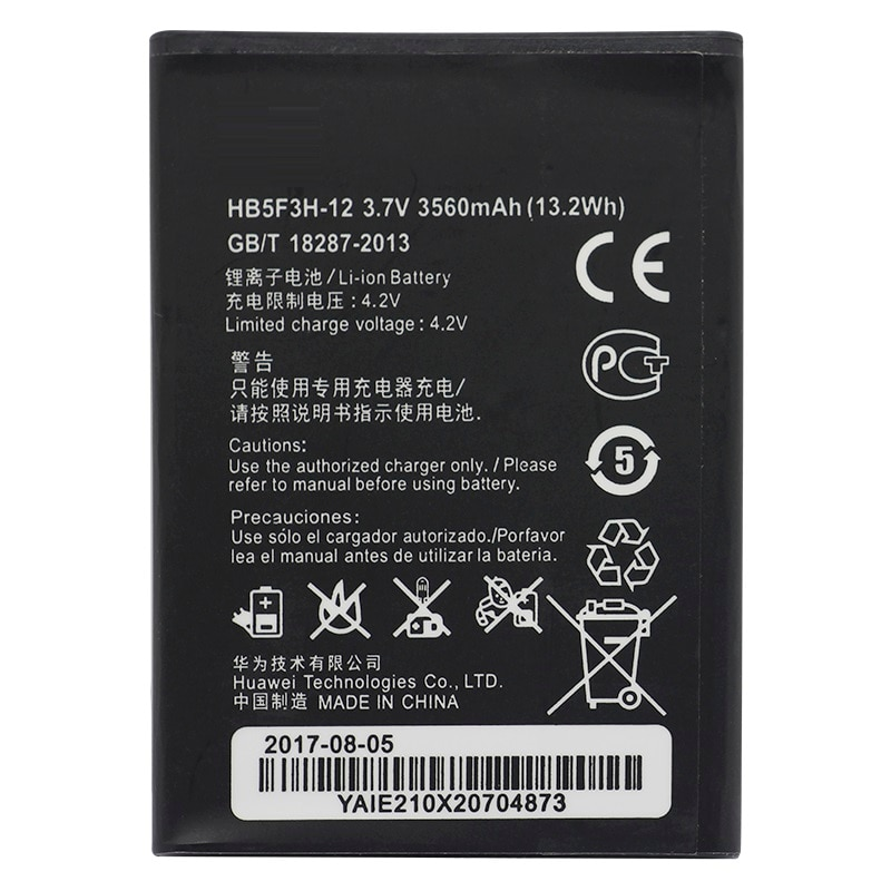 Batería de reemplazo HB5F3H-12 para Huawei E5372T E5372s E5775 4G LTE FDD Cat4 Router WIFI 3560 mAh
