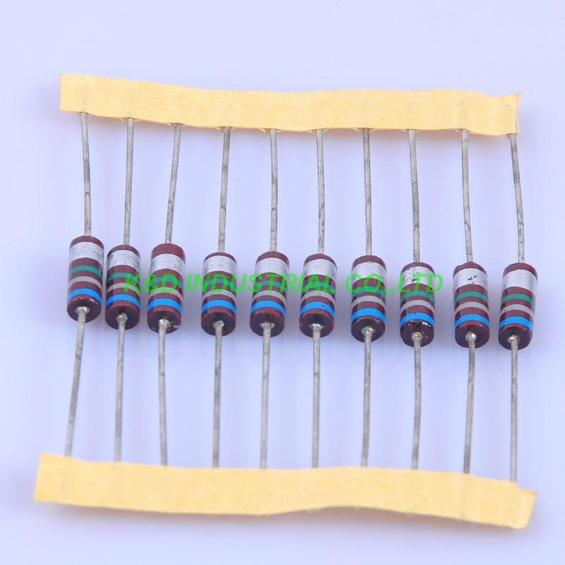 10pcs Carbon Composition vintage Resistor 0.5W 6.8M ohm