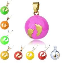 AOBOCO harmonie boule pendentif collier mexicain Bola boules bébé appelant pieds pendentifs souhaitant balle grossesse pour femme cloches musicales