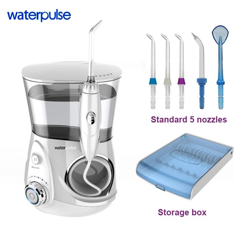 Waterpulse V660 agua Flosser hilo eléctrico irrigador Oral para los dientes spa dental boca de limpieza