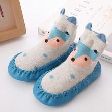 Baby Boy Girl Socks Cotton Children Floor Socks Anti-Slip Baby Step Socks Winter Baby Warm Socks Leg Warmers Skarpetki