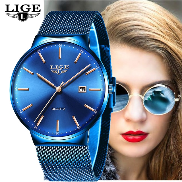 LEGE Watch Women Top Brand Luxury Quartz Watch Elegant Ladies Bracelet Wristwatch Stainless Steel Women Clock Relojes Mujer 2018