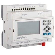 GSM/SMS/GPRS PLC, soluzione ideale per il controllo remoto e il monitoraggio e applicazioni in modo allarmante, controller intelligente EXM-12DC-DA-R-4G