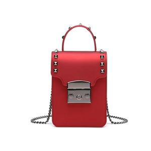 Crossbody Mini Phone Bags For Women PVC Leather Handbags Female Messenger Bag Girls Small Shoulder Bags Ladies Hand Bag Red Sac