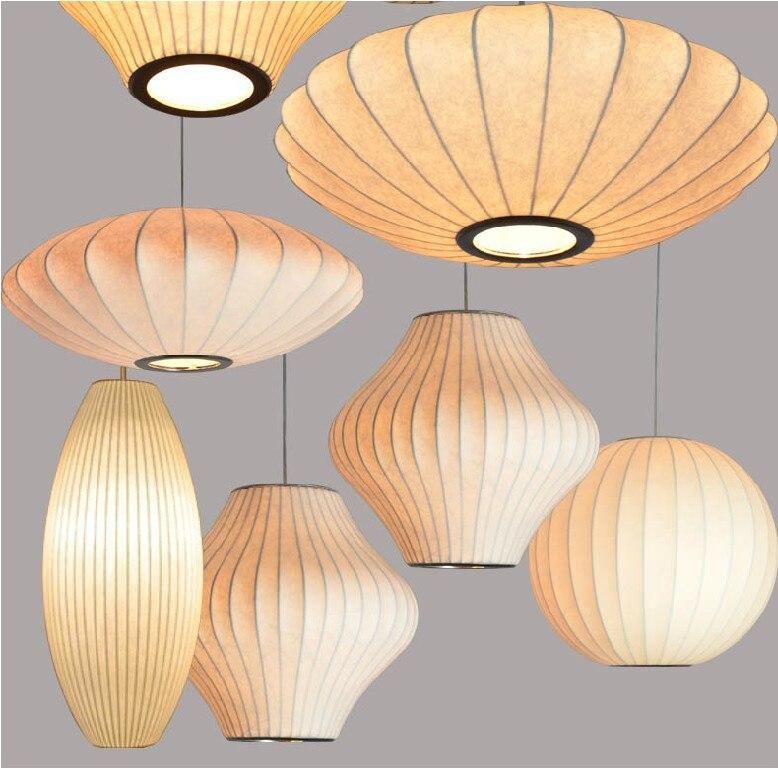 Lámpara colgante de burbuja pera luz blanca de 40cm réplica E27 lámpara colgante de seda lámpara colgante iluminación colgante