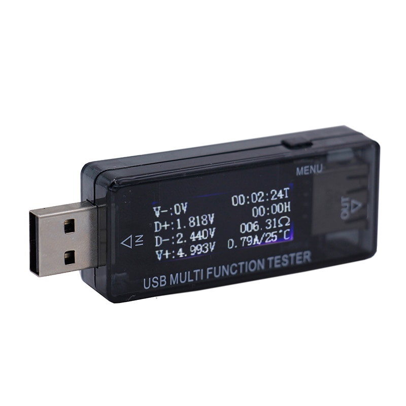 QC2.0 Digital Display 4-30V multifunction LCD USB Power Bank Charger Capacity Current Voltage Voltmeter Ammeter Tester 15%