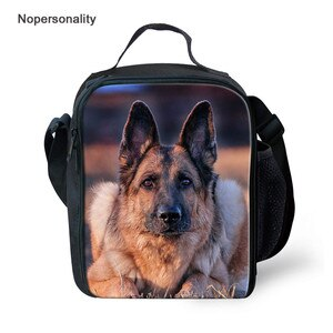 Nopersonality Lunch Bags for Men Women with German Shepherd Prints Insulation Casual Snack Packbag Family Pincic Lunch box