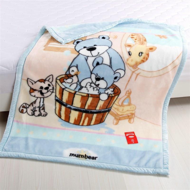 Frete grátis raschel espessamento dupla camada criança cobertor coral velo flanela cobertor do bebê das crianças cama 103cm x 130cm