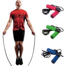 High quality Aerobic Exercise Skipping Jump Rope Adjustable Bearing Speed Fitness Slimming comfort metal bearing foam handle 2.5