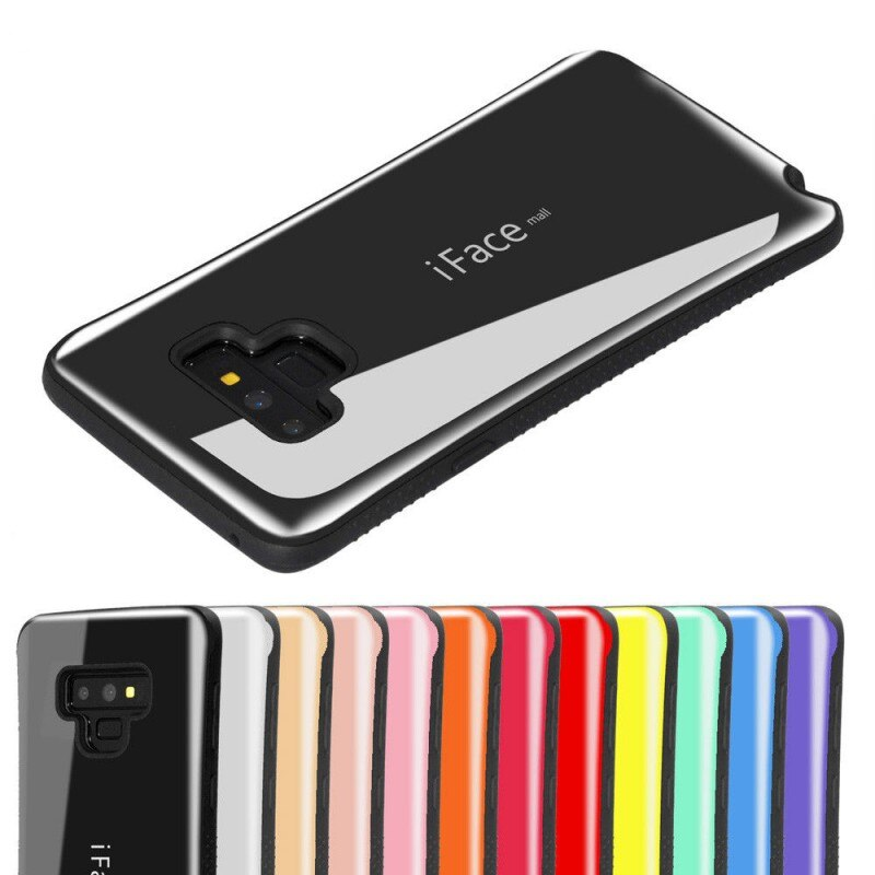 Купить с кэшбэком Shockproof Case For Samsung Galaxy S20 Note 10 Plus Cover Iface Mall Full Protect Anti-Skid Cover For Samsung Galaxy Note 9 Case