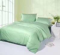 3d solid mint green satin striped bedding set queen full size quilt duvet cover sheets bed in a bag bedspreads linen 100 cotton