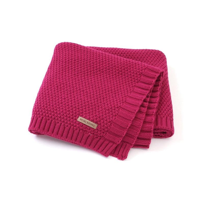 MOTOHOOD Kids Blanket Casual Baby Blankets Knitted Newborn Swaddle Wrap Soft Toddler Sofa Crib Quilt Baby Stroller Blanket