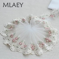 mlaey 2ylot rose exquisite embroidered lace trim lace fabric quality lace ribbon diy craftsewing dress clothing accessor