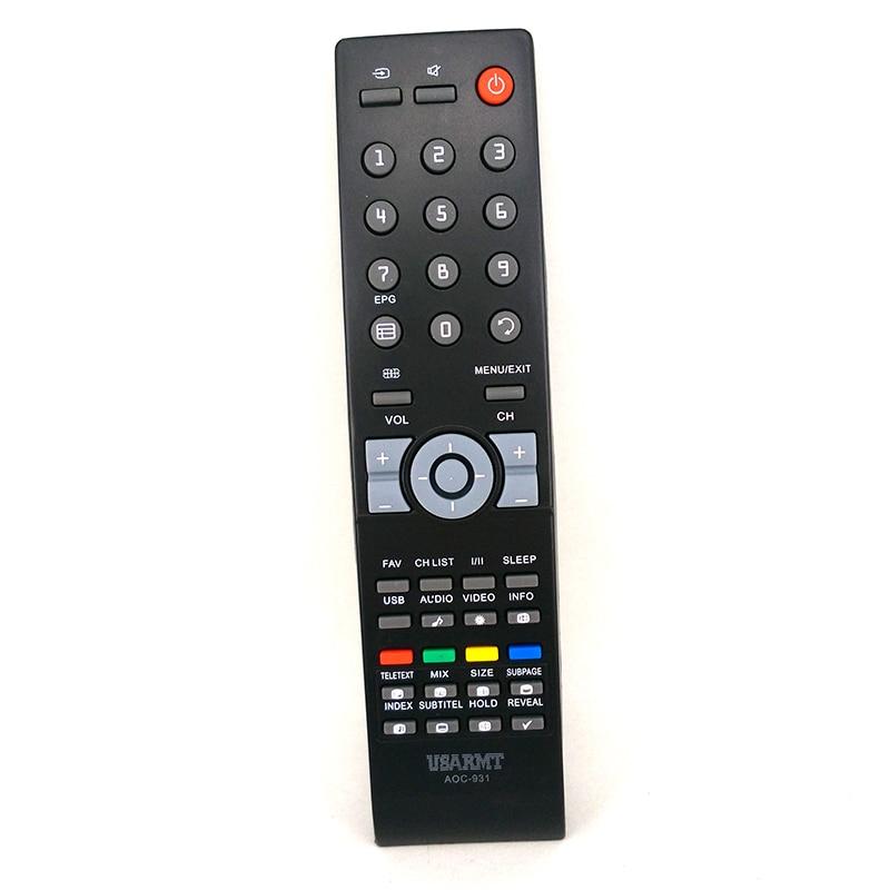 Novo oem controle remoto AOC-931 para aoc tv universal controle remoto para aoc a maioria dos modelos fernbedienung