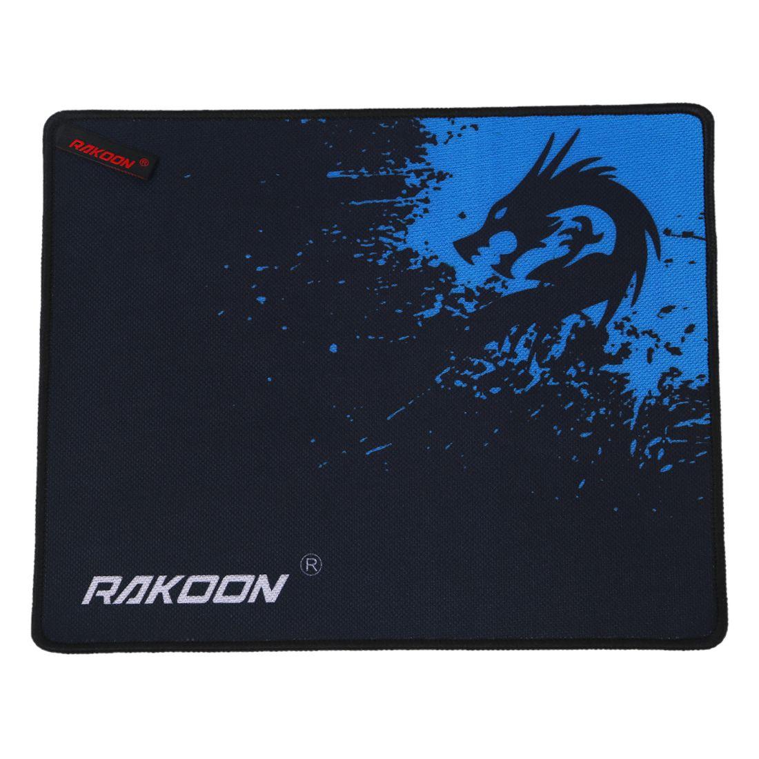 Alfombrilla de ratón RAKOON Xinlong de gran Alfombrilla de ratón grande con cierre de borde para juegos para Barra de Internet (Control azul 25*30 CM)