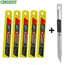 1 шт., нож CNGZSY для канцелярских товаров, лезвия для школы, бумаги, графики, офиса, сделай сам, резак для автомобильной пленки, виниловая резка E02 + 5E03