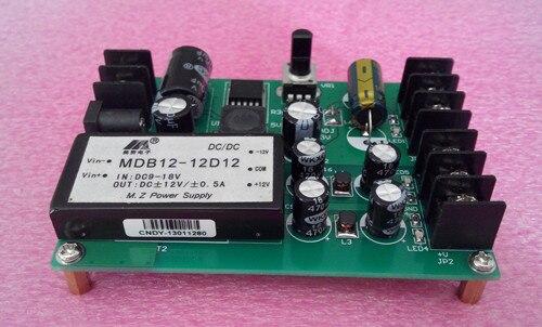 Módulo de potencia de prueba múltiple positivo y negativo 15/12 V/5 V aislamiento 1,5-11,5 V fuente de alimentación ajustable