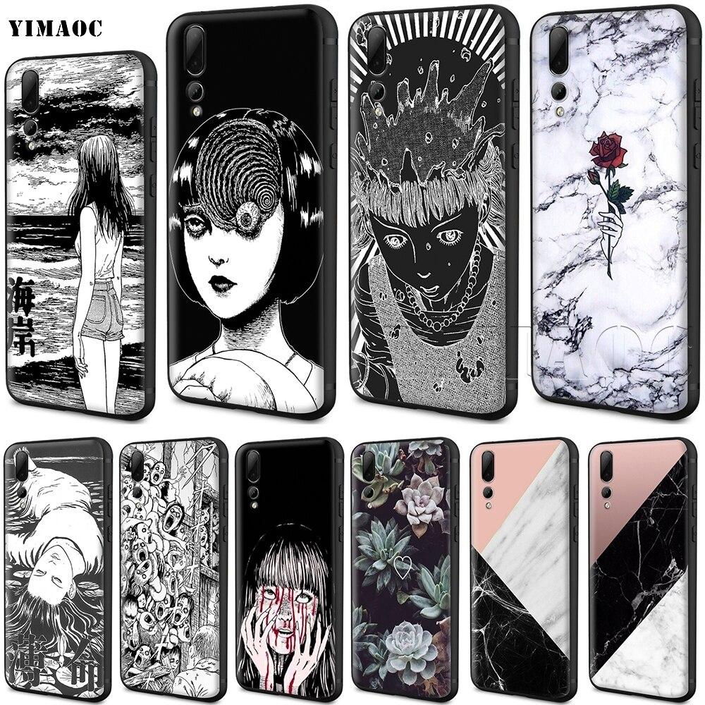 YIMAOC Junji Ito Tees Horror Fall für Huawei Mate 10 P8 P9 P10 P20 P30 P Smart Lite Pro Mini 2017