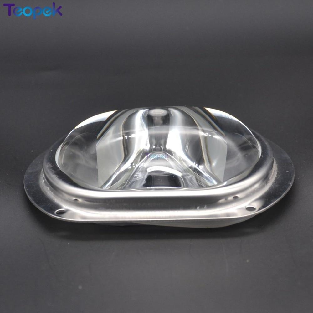 Lente de farola de alta calidad de 107mm + 2 anillos de silicona + anillo de presión + copa reflectora adecuada para LED de 50W 100W 150W