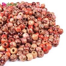 1000 teile/beutel 12mm Und 17mm Multi Farbe Runde Holz Haar Perlen Furcht Dreadlock Perlen Armreif Clip Headwear Zubehör zufällige Farbe