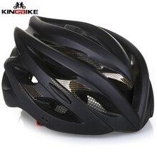 KINGBIKE plus récent Anti-collision vélo de route vtt casque de vélo ultraléger intégralement moulé casque de vélo feu arrière Casco Ciclismo