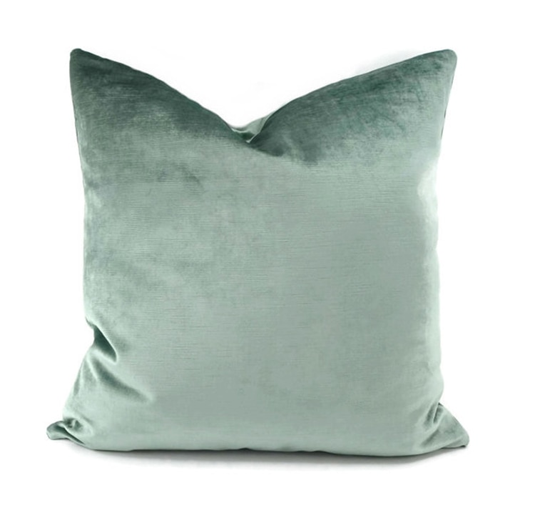 50X30/45/50/60 cm simples luz verde de veludo capa de almofada decorativa fronha de pelúcia curta jogar travesseiro tampa