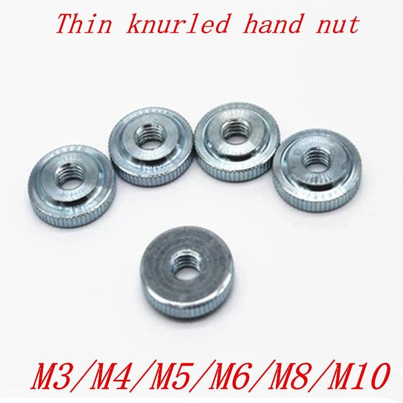 Tuercas de pulgar de mano de pequeño paso, de acero M3, M4, M5, M6, m8 y m10 de 2-10 Uds.