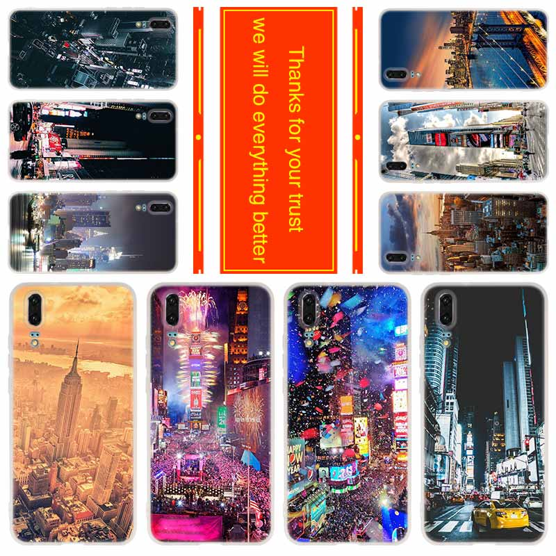 Funda para Huawei P40 P30 Pro P20 Lite P10 P9 P8 lite 2017 P Samrt p30, funda de New York City Times Square Beautiful