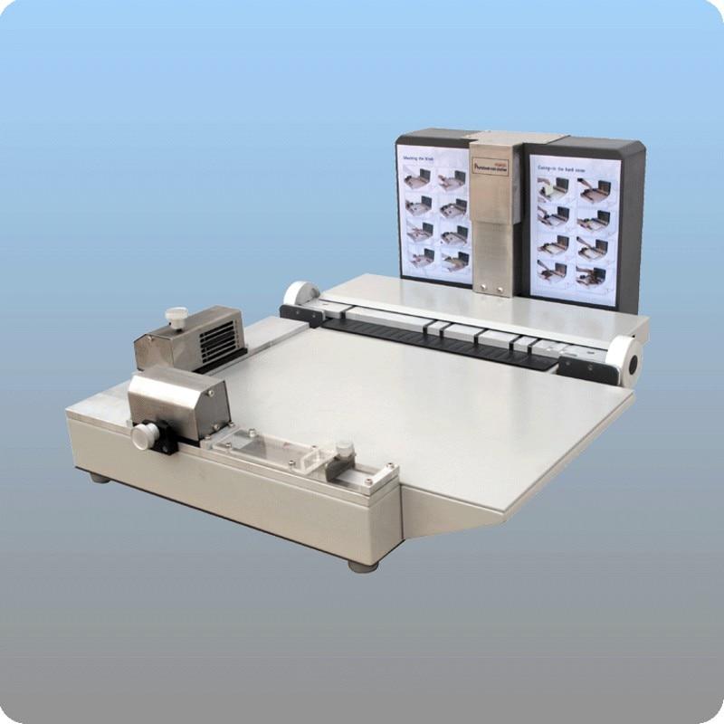 Photo book maker mounter Flush mount album binding machine 12inch + Manual paper creaser and perforator machine
