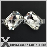 dhl free shipping preset mounted crystal rhinestone rectangle octagon 18x27mm crystal in nickel sew on setting for bagshoe