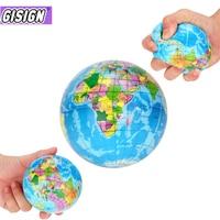 Новый декор для снятия стресса карта мира пенопластовый шар Атлас Глобус Пальма Планета Земля мяч сжимаемая игрушка сжимаемые игрушки для ...