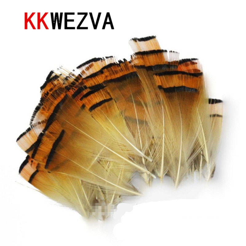 KKWEZVA 50 Uds Cambo pavo Marabou sangre plumas volar Pesca atar Material atraer/imitar ganchos para insectos Pesca