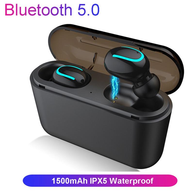 5.0 écouteurs Bluetooth Q32 tws oreille Pod basse casque Hifi stéréo écouteur étanche IPX5 écouteurs sans fil casque pour téléphone