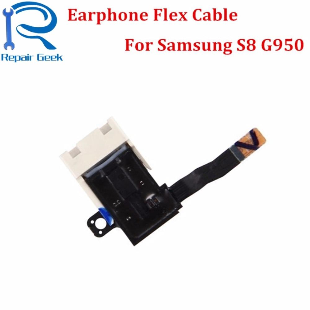 20 unids/lote nuevos auriculares de alta calidad Jack Audio pieza de recambio de cable FLEX para Samsung Galaxy S8 G950F piezas de reparación