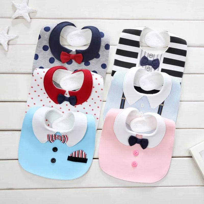Нагрудник для новорожденных, нагрудник из водонепроницаемого хлопка для новорожденных, одежда для мальчиков и девочек от 0 до 36 месяцев