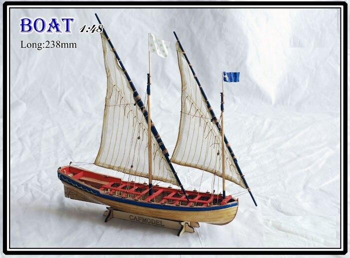 Масштаб 1/48 полный ребристый парусная лодка модельные наборы Le Requin Chebec 1750 модель корабля спасательной лодки