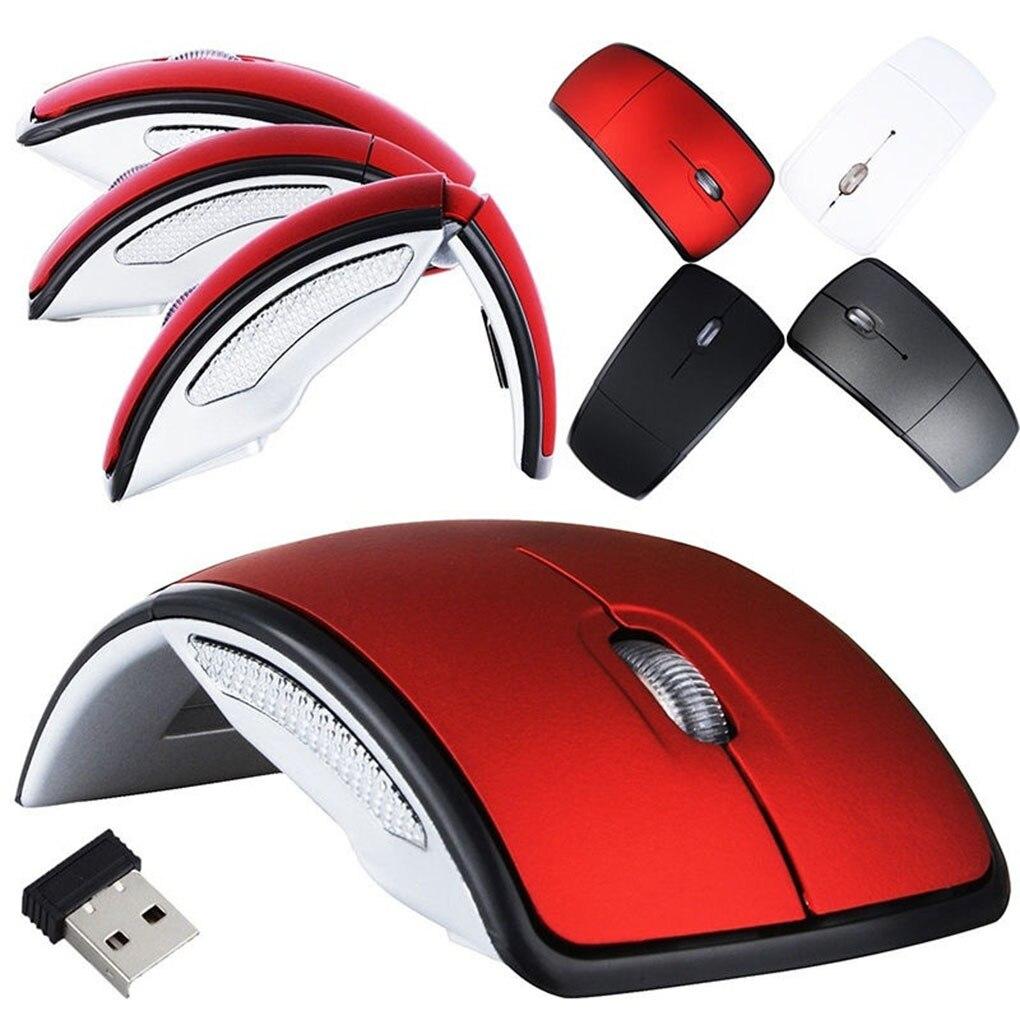 Ratón plegable inalámbrico para ordenador Arc Touch 2,4G, ratón plegable óptico delgado para juegos con receptor USB para ordenador portátil