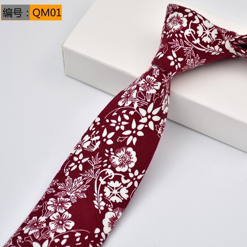 Floral ties Fashion Cotton Paisley Ties For Men Corbatas Slim Suits Vestidos Necktie Party Ties Vintage Printed Gravatas 6CM недорого